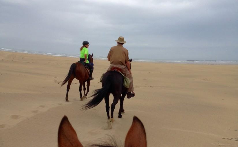 Ellinor på hästryggen i Sydafrika