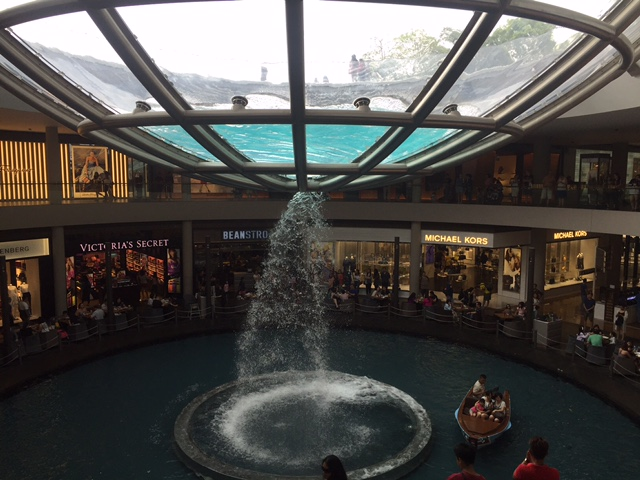 Waterfall in a mall Singapore