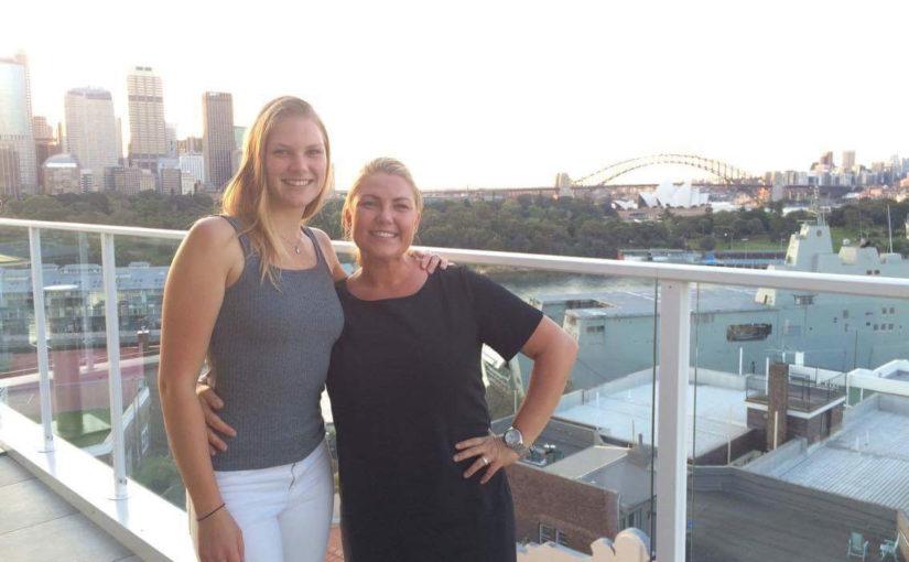 Frida studerar hotel och hospitality Sydney Australien